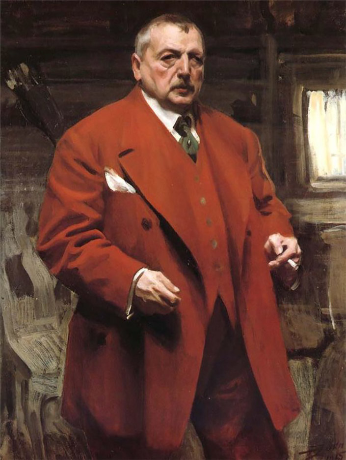 "Андерс Цорн (Anders Zorn), ""Self Portrait in Red"""