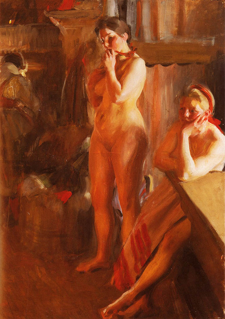 "Андерс Цорн (Anders Zorn), ""Firelight"""