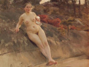 "Андерс Цорн (Anders Zorn), ""Sunbathing girl"""