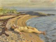 """Андерс Цорн (Anders Zorn), """"На пляже"""""""