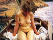 "Андерс Цорн (Anders Zorn), ""Woman in a boat"""