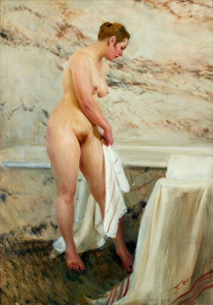 "Андерс Цорн (Anders Zorn), ""В ванной"""