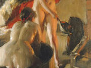 "Андерс Цорн (Anders Zorn), ""Girls from Dalarna in the sauna"""