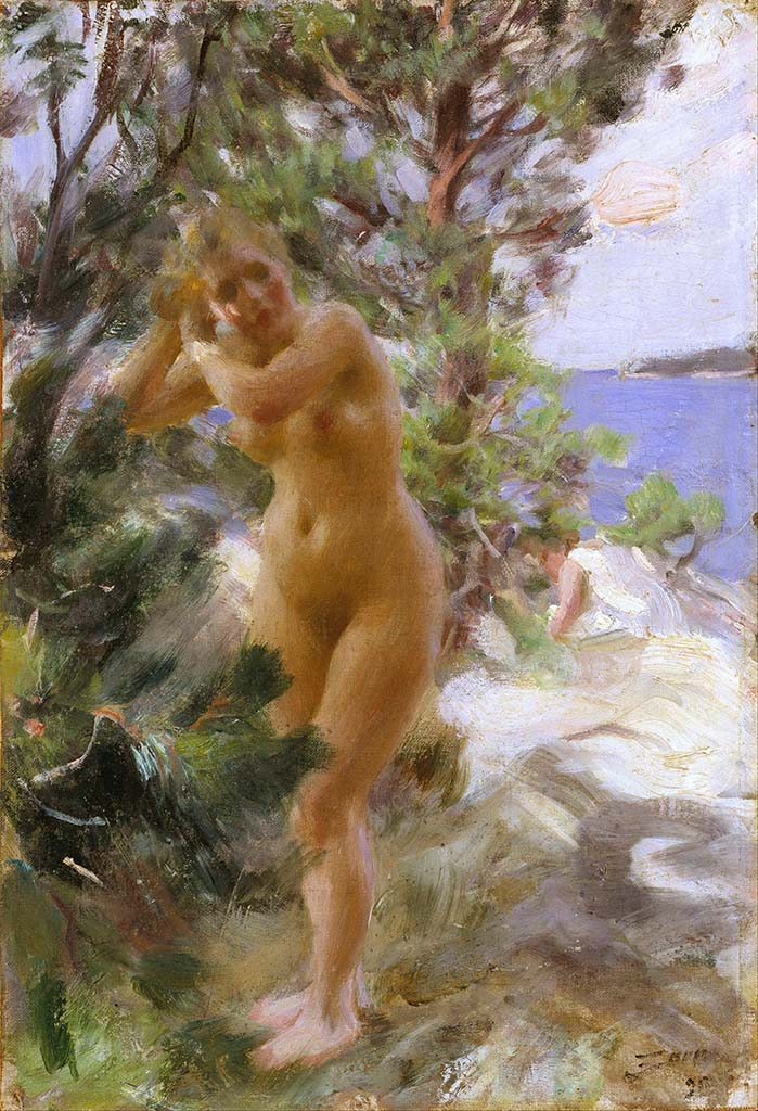 "Андерс Цорн (Anders Zorn), ""After the Bath"""