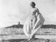 """Андерс Цорн (Anders Zorn), """"Лебедь"""" (Drawing)"""