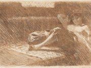 "Андерс Цорн (Anders Zorn), ""Спящая одалиска"" (Drawing)"