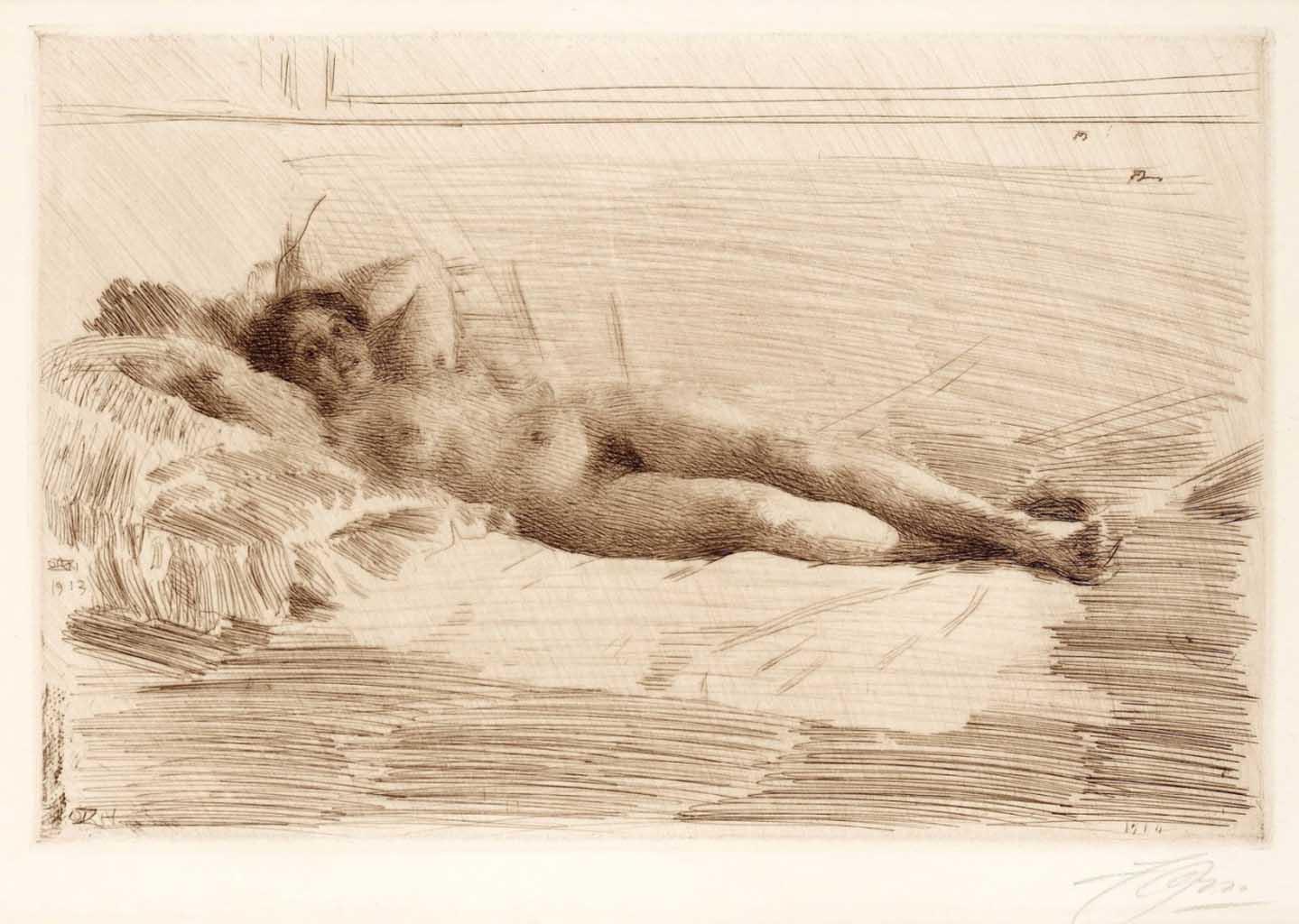 """Андерс Цорн (Anders Zorn), """"Элин"""" (Drawing)"""