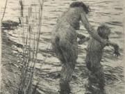 """Андерс Цорн (Anders Zorn), """"A Premiere"""" (Drawing)"""