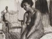 "Андерс Цорн (Anders Zorn), ""Сидящая модель"" (Drawing)"