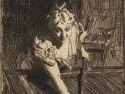 "Андерс Цорн (Anders Zorn), ""Бильярд"" (Drawing)"
