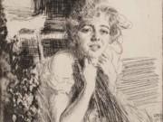 "Андерс Цорн (Anders Zorn), ""Эмма Расмуссен"" (Drawing)"