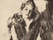 "Андерс Цорн (Anders Zorn), ""Майя фон Хейдзне"" (Drawing)"