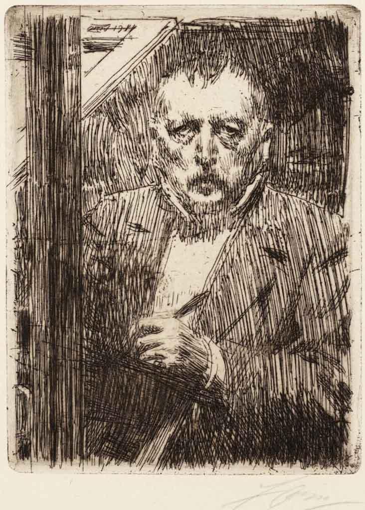 "Андерс Цорн (Anders Zorn), ""Автопортрет"" (Drawing)"
