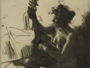 """Андерс Цорн (Anders Zorn), """"The Guitar"""" (Drawing)"""