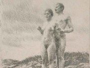 """Андерс Цорн (Anders Zorn), """"The two"""" (Drawing)"""