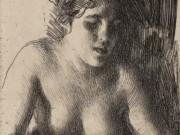 """Андерс Цорн (Anders Zorn), """"Bust"""" (Drawing)"""
